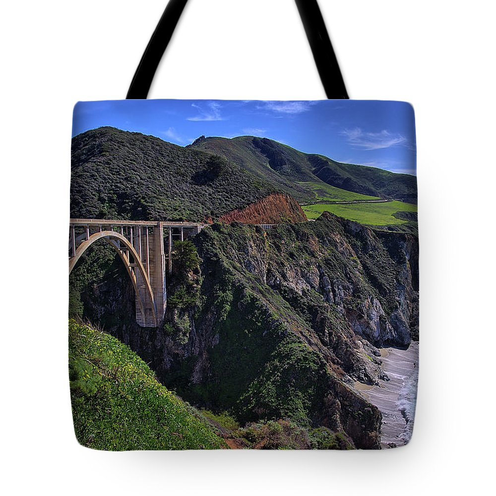 Bixby Bridge Tote Bag featuring the photograph Bixby Bridge by Alex Morales