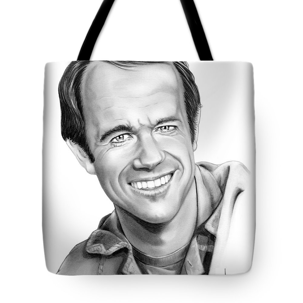 Pencil Tote Bag featuring the drawing Bj-mike Farrell by Murphy Elliott