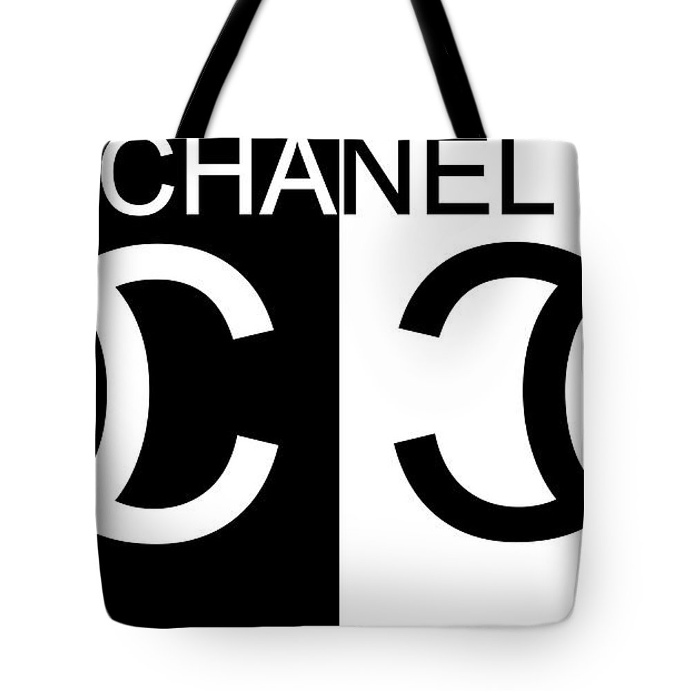 48d772be76b Black And White Chanel Tote Bag featuring the mixed media Black And White  Chanel 2 by
