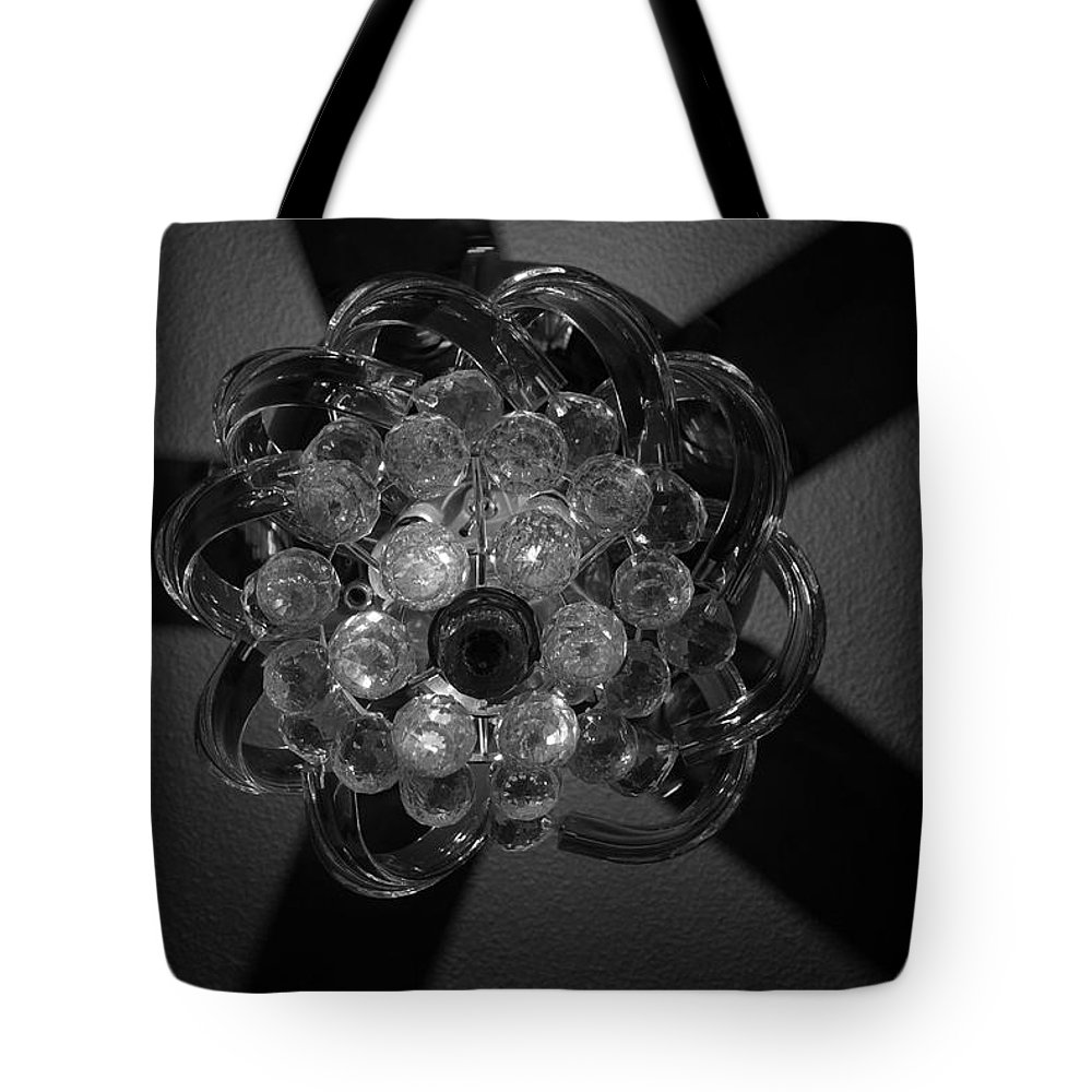 Fan Tote Bag featuring the photograph Black And White Crystal by Rob Hans