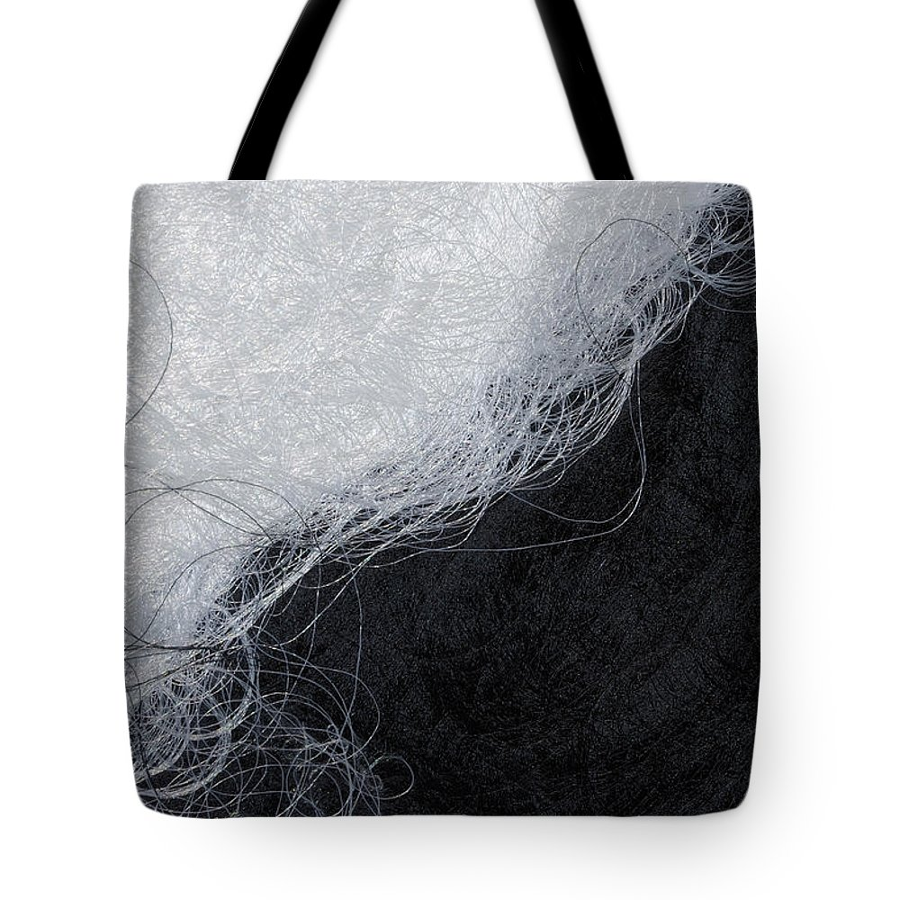 Fibers Tote Bag featuring the photograph Black And White Fibers - Yin And Yang by Matthias Hauser