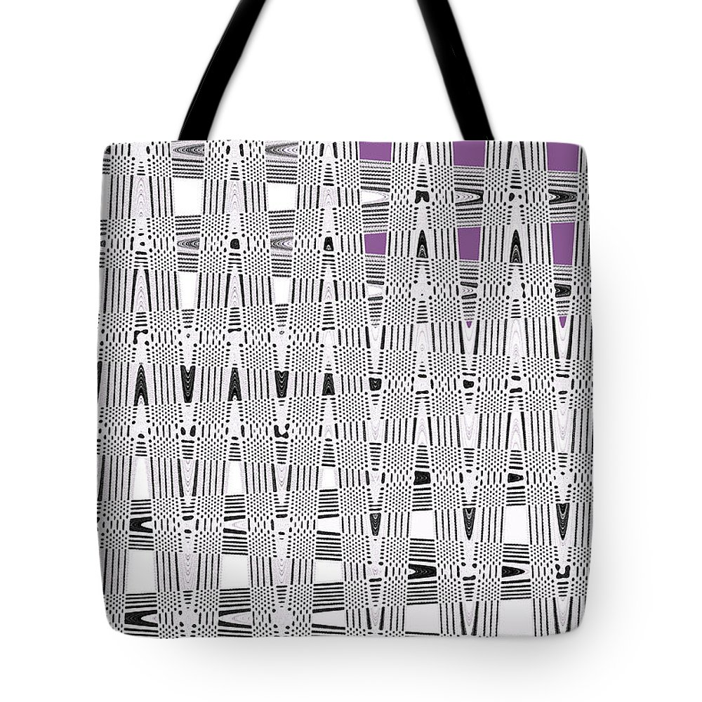 Black And White Metal Panel Abstract Tote Bag featuring the photograph Black And White Metal Panel Abstract by Tom Janca