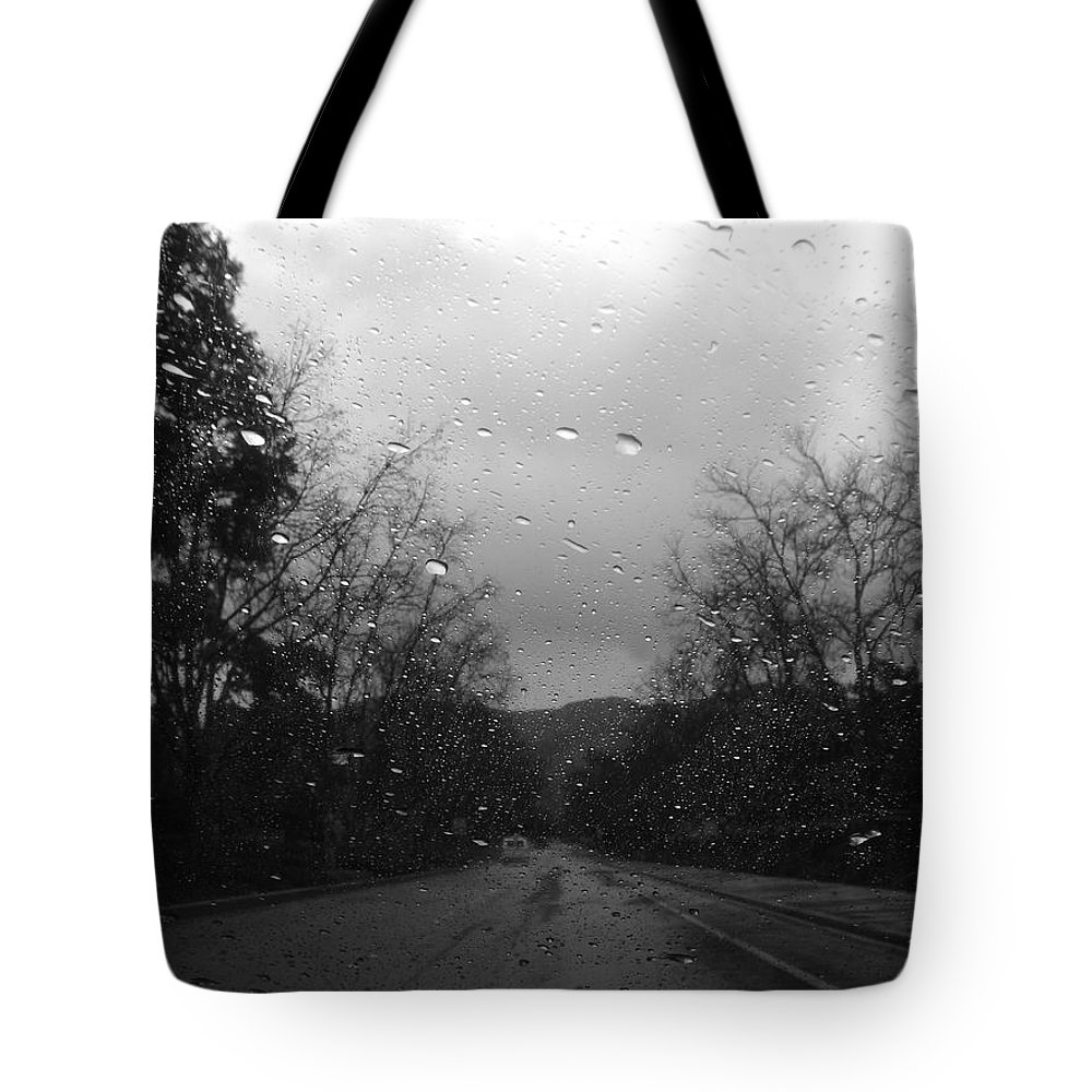Black And White Tote Bag featuring the photograph Black And White by Nila D
