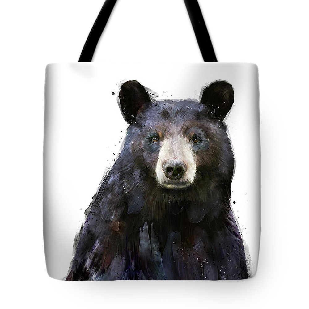 Bear Tote Bag featuring the painting Black Bear by Amy Hamilton
