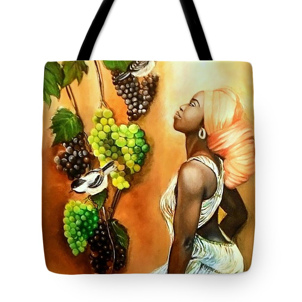 Women Tote Bag featuring the painting Black Beauty003 by Payal Tripathi