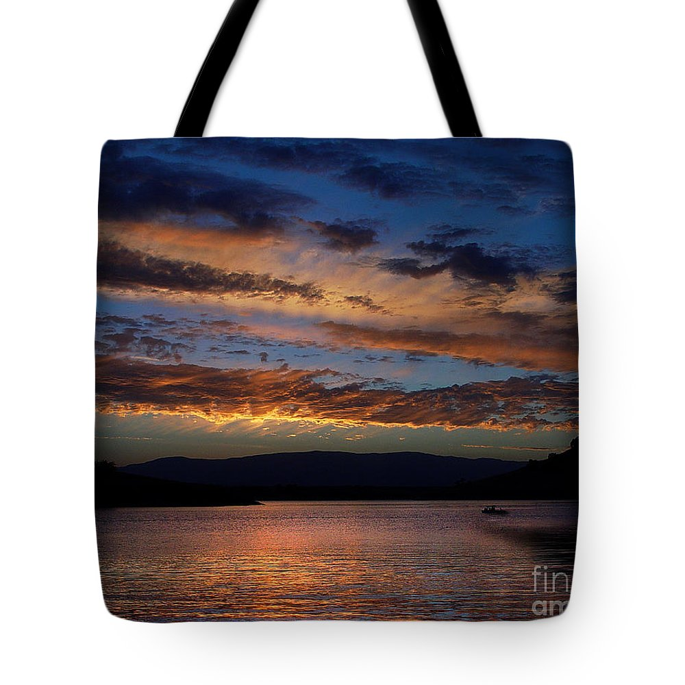 Black Butte Sunset Tote Bag featuring the photograph Black Butte Sunset by Peter Piatt