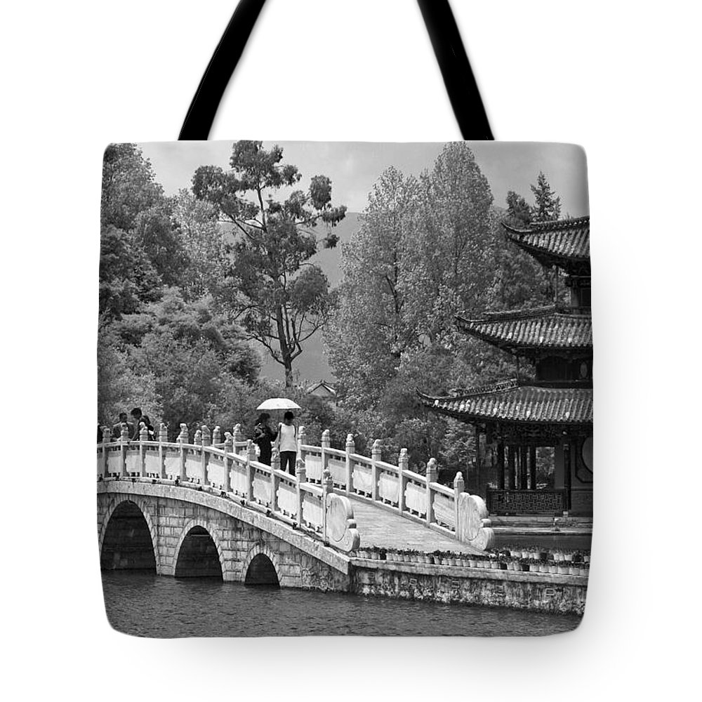 Asia Tote Bag featuring the photograph Black Dragon Park by Michele Burgess