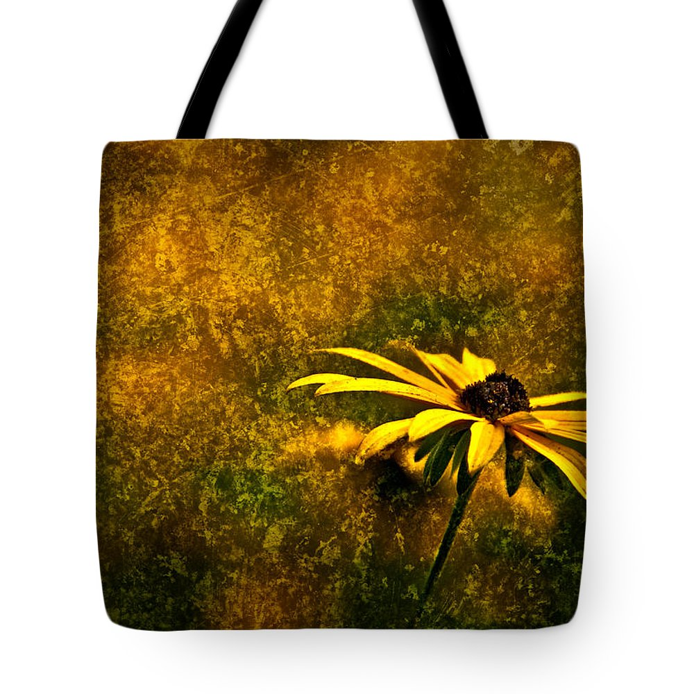 Black-eyed Susan Tote Bag featuring the photograph Black-eyed Susan And Granite by Onyonet Photo Studios