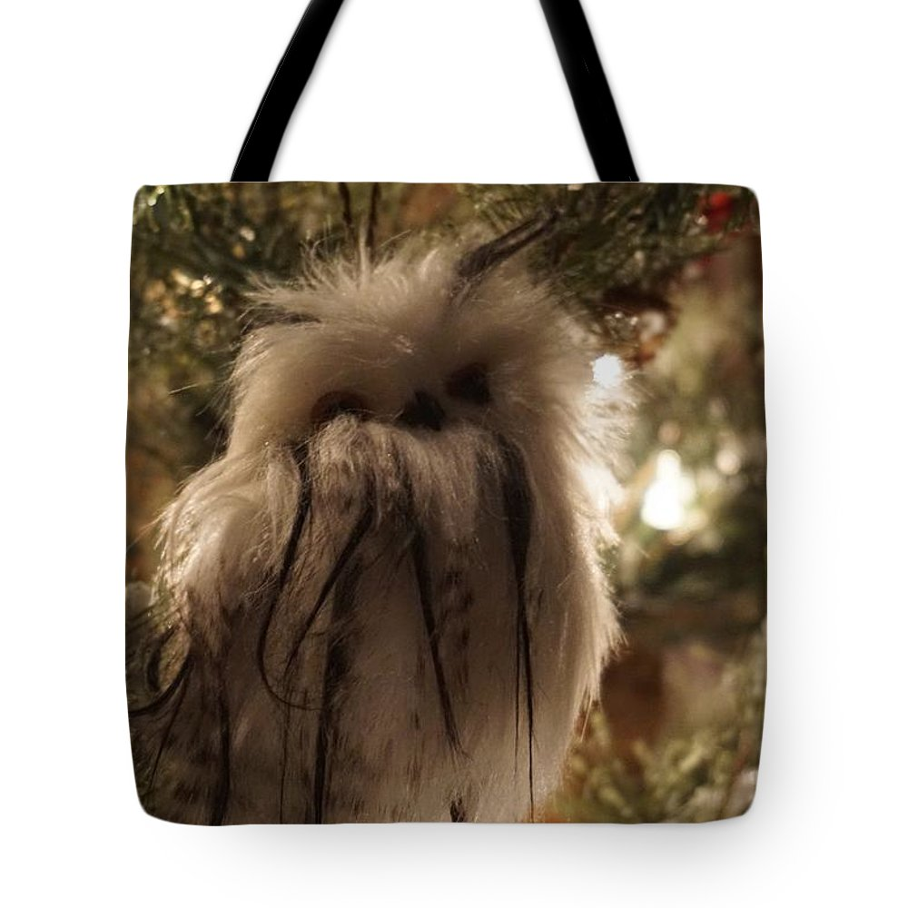 Winter Tote Bag featuring the photograph Black Feather Owl by Susan Brown