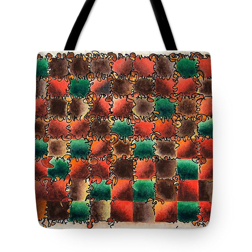 Abstract Tote Bag featuring the painting Black Forest Cake by Dave Martsolf