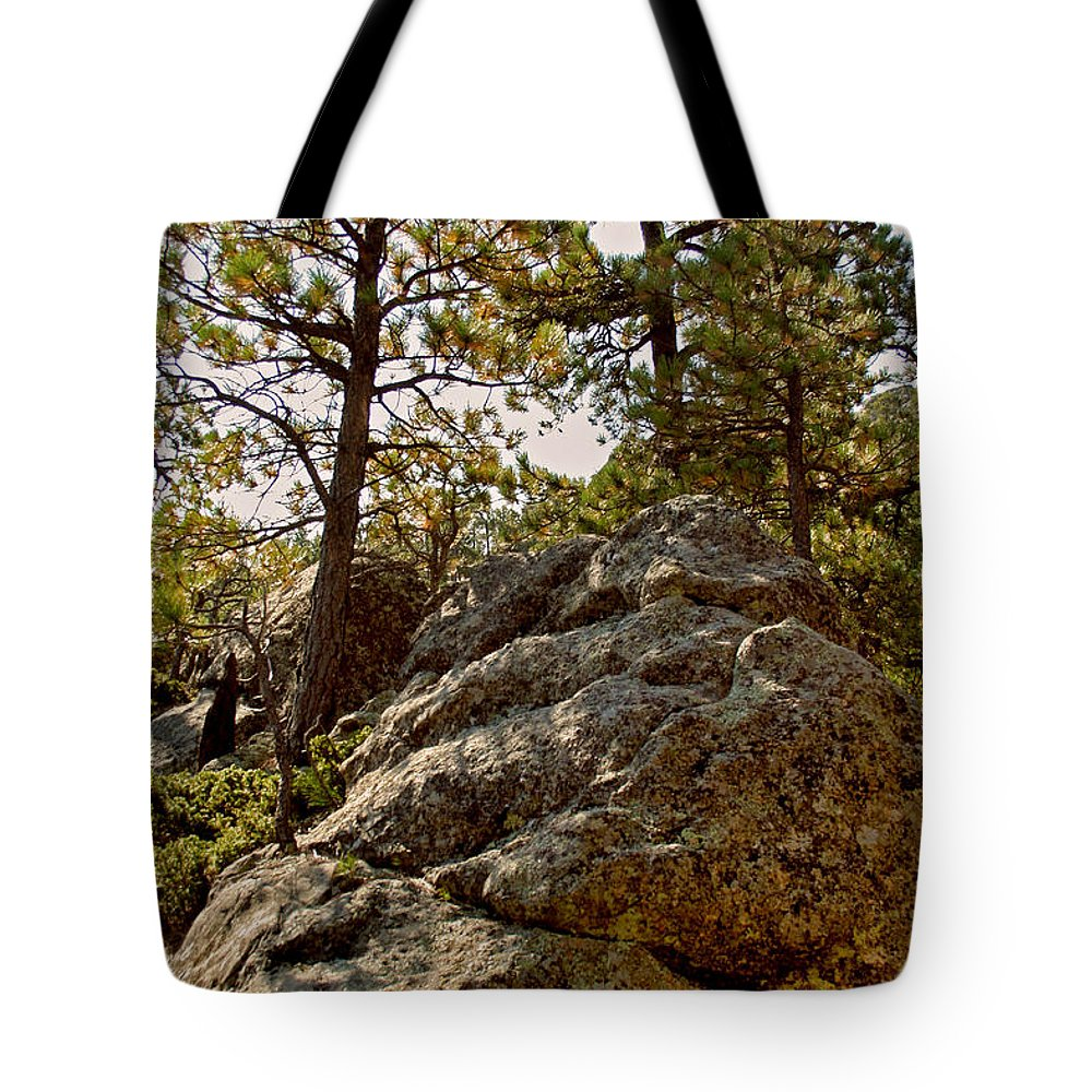 Mount Rushmore Tote Bag featuring the photograph Black Hills Boulders by Mike Oistad