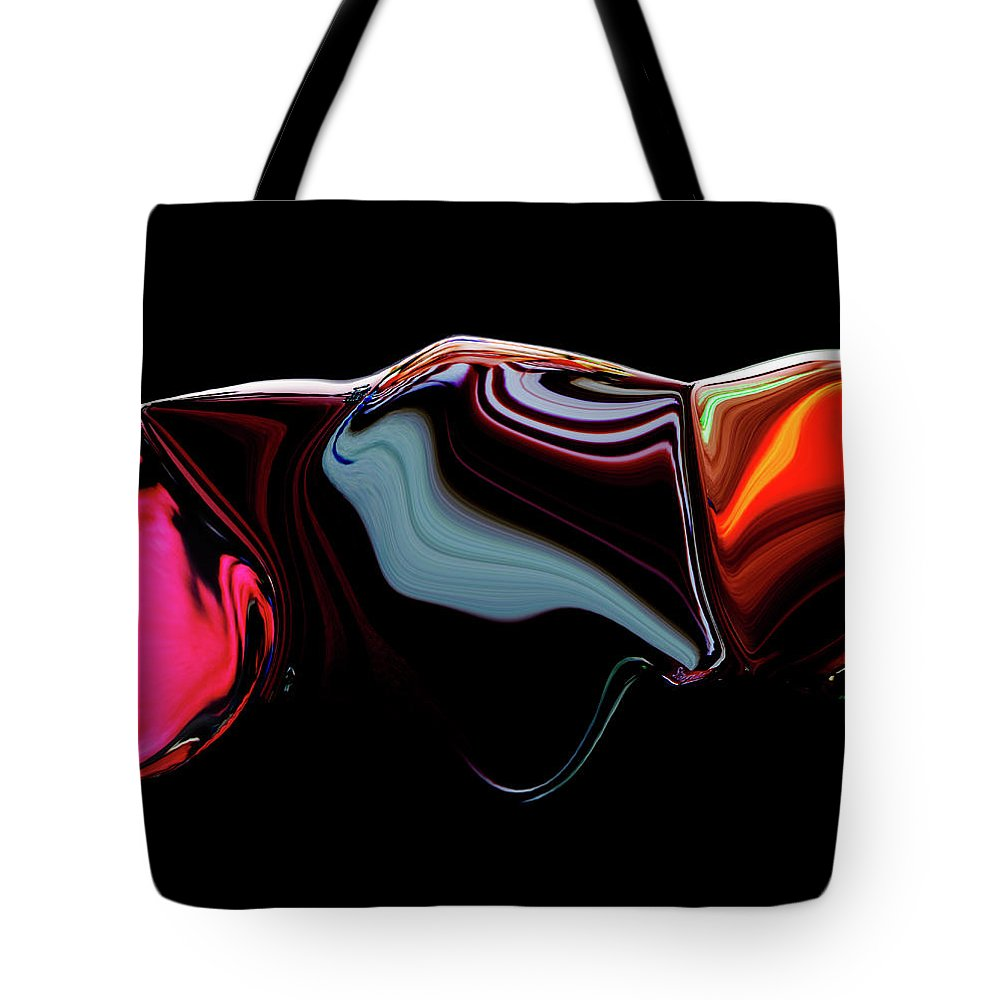 Modern Tote Bag featuring the digital art Black Ice by Ralf Nau