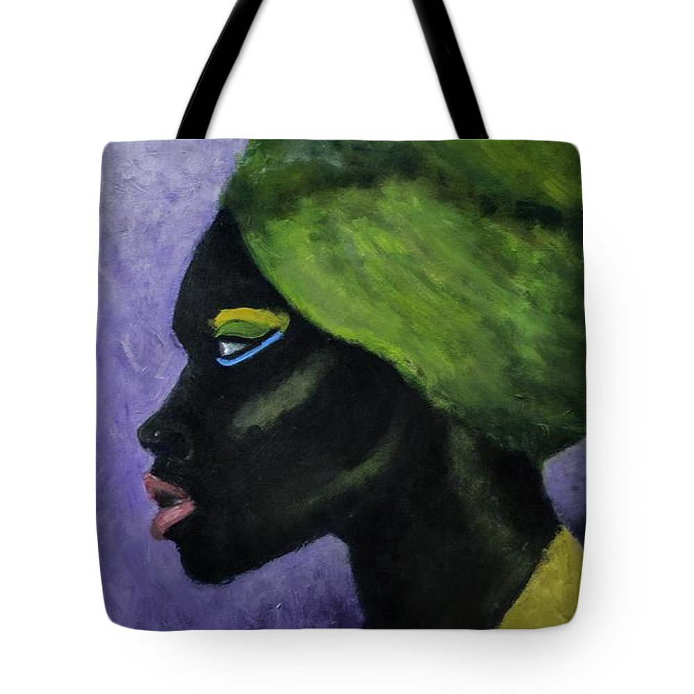 Painting Tote Bag featuring the painting Black Is Gold by Luther Wright