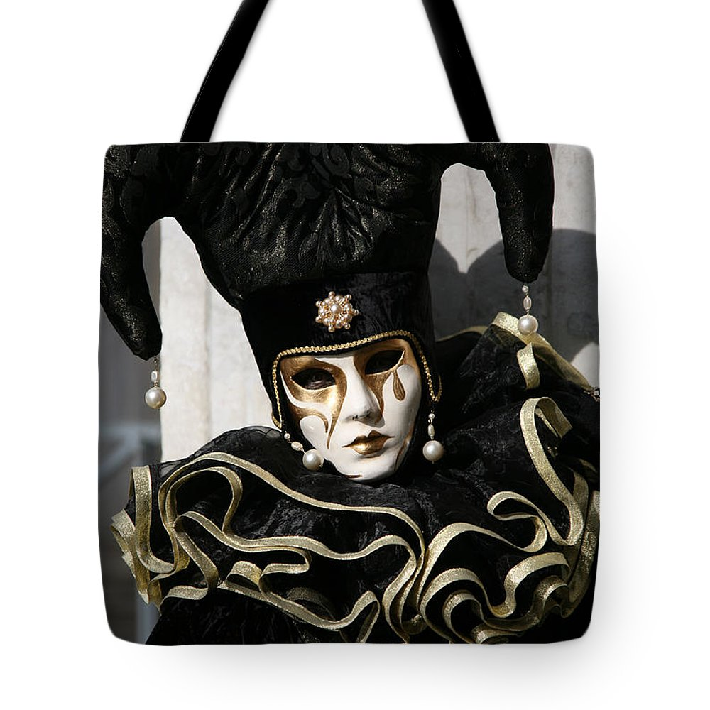 Black Tote Bag featuring the photograph Black Jester by Donna Corless