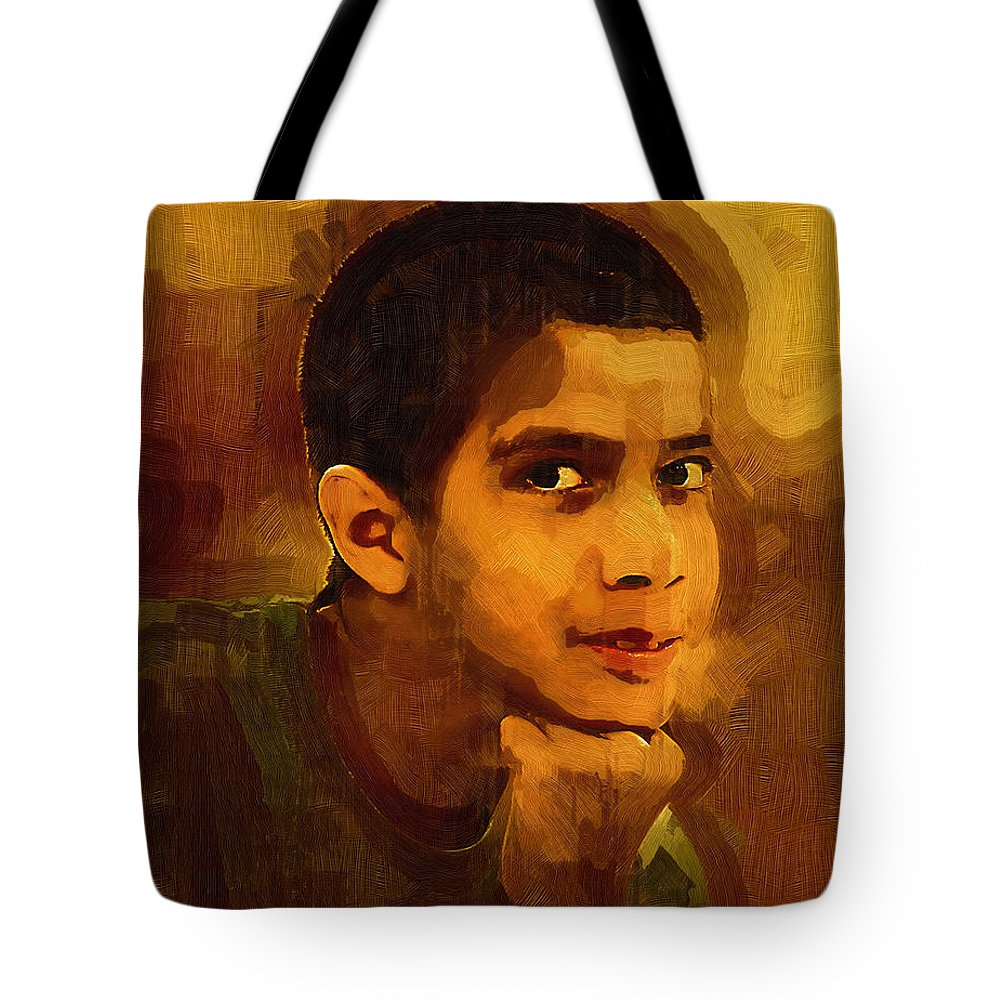 Beautiful Black Children Tote Bag featuring the photograph Young Black Male Teen 3 by Ginger Wakem