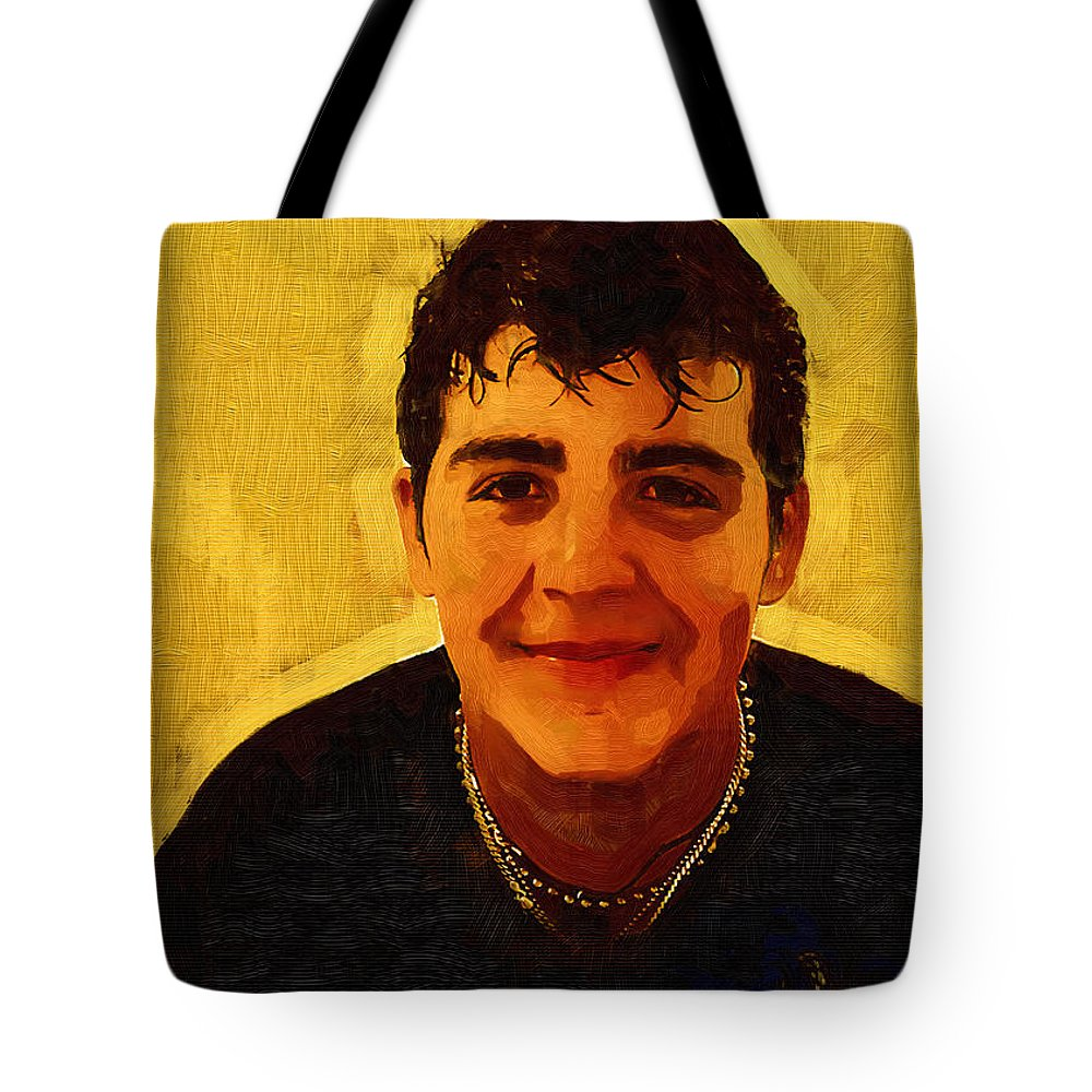 Beautiful Black Children Tote Bag featuring the photograph Young Black Male Teen 4 by Ginger Wakem