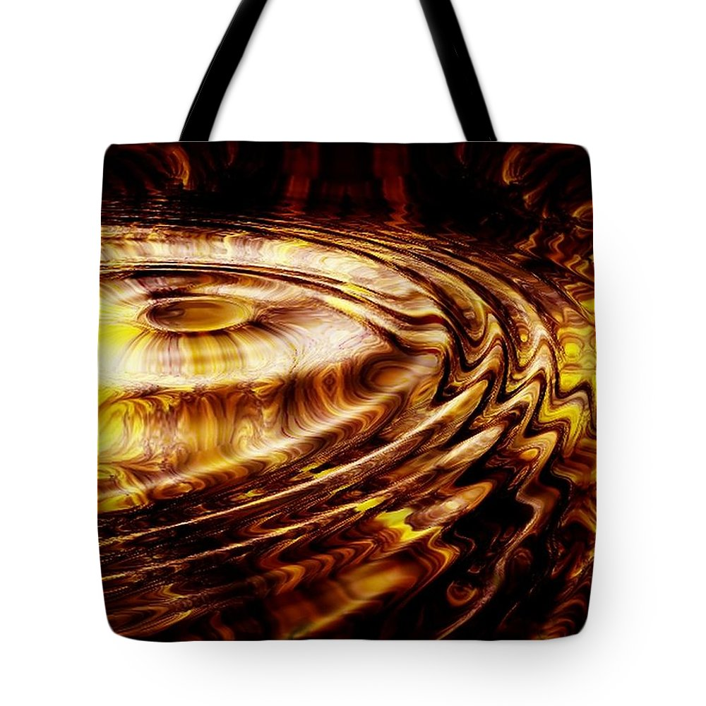 Gold Tote Bag featuring the digital art Black Maple by Robert Orinski