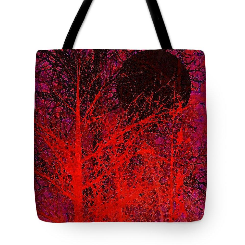 Digital Art Tote Bag featuring the digital art Black Moon by Richard Rizzo