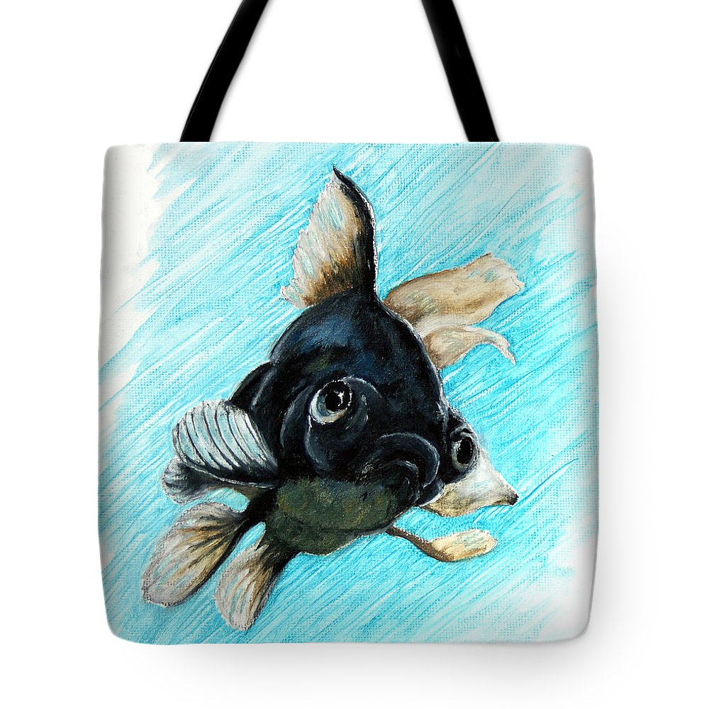 Goldfish Tote Bag featuring the photograph Black Moor by Dennis Smith