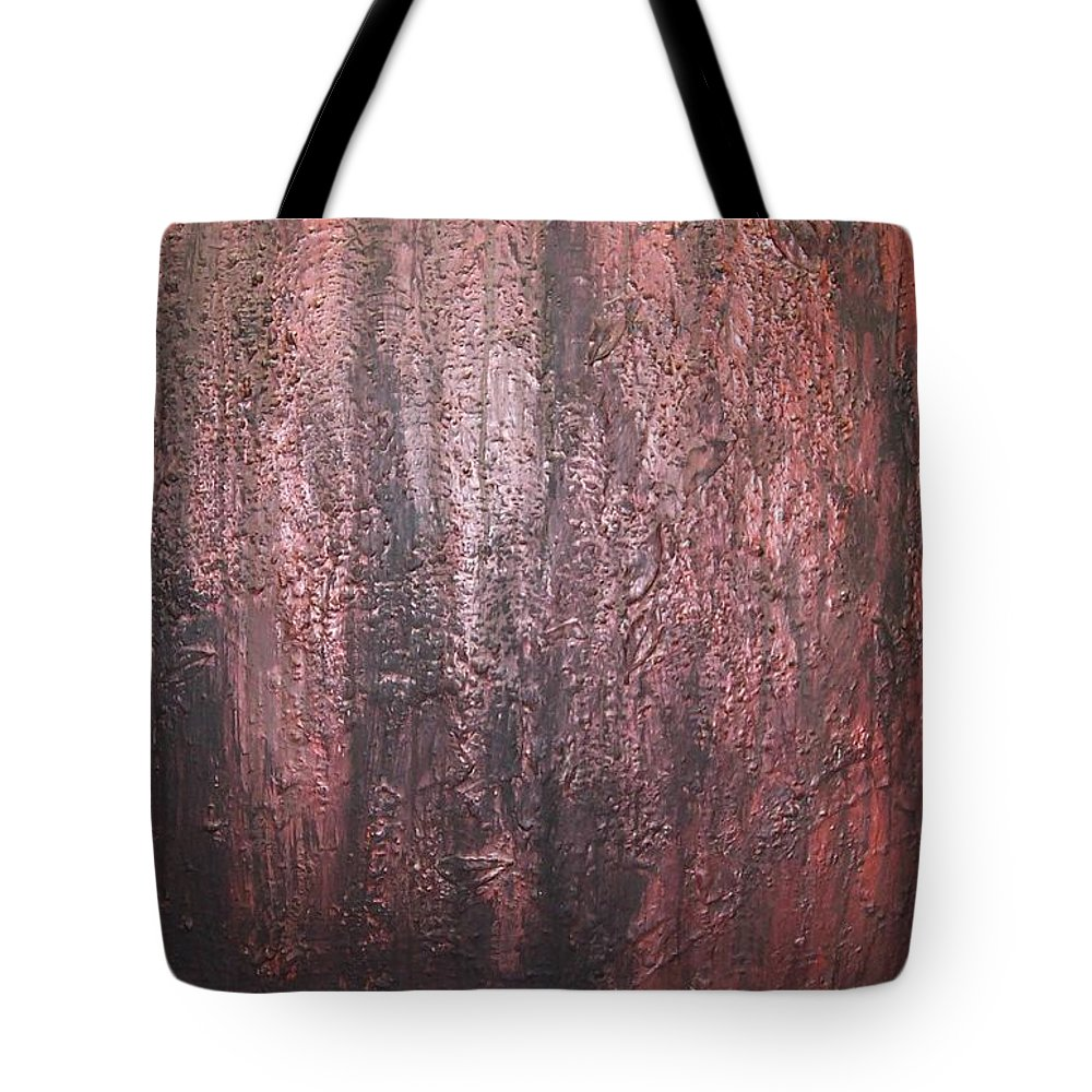 Abstract Tote Bag featuring the painting Black No 1 by Elizabeth Klecker
