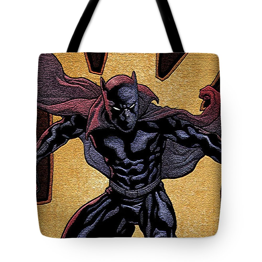 Black Panther Tote Bag featuring the digital art Black Panther by Zia Low