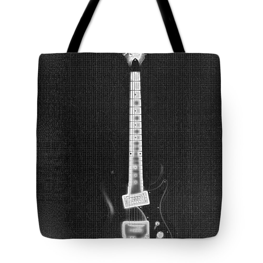 Guitar Tote Bag featuring the photograph Black Thunder by Bill Cannon