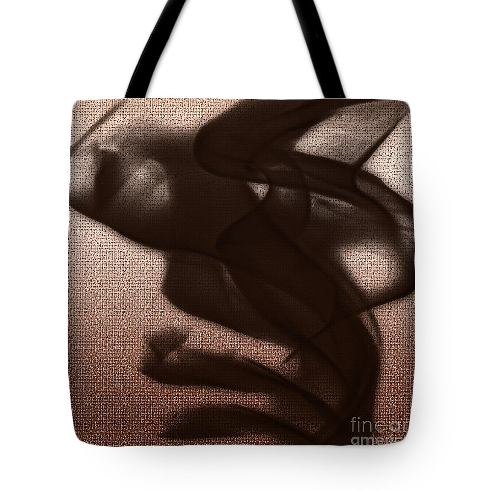 Clay Tote Bag featuring the digital art Black Vector Apparition by Clayton Bruster