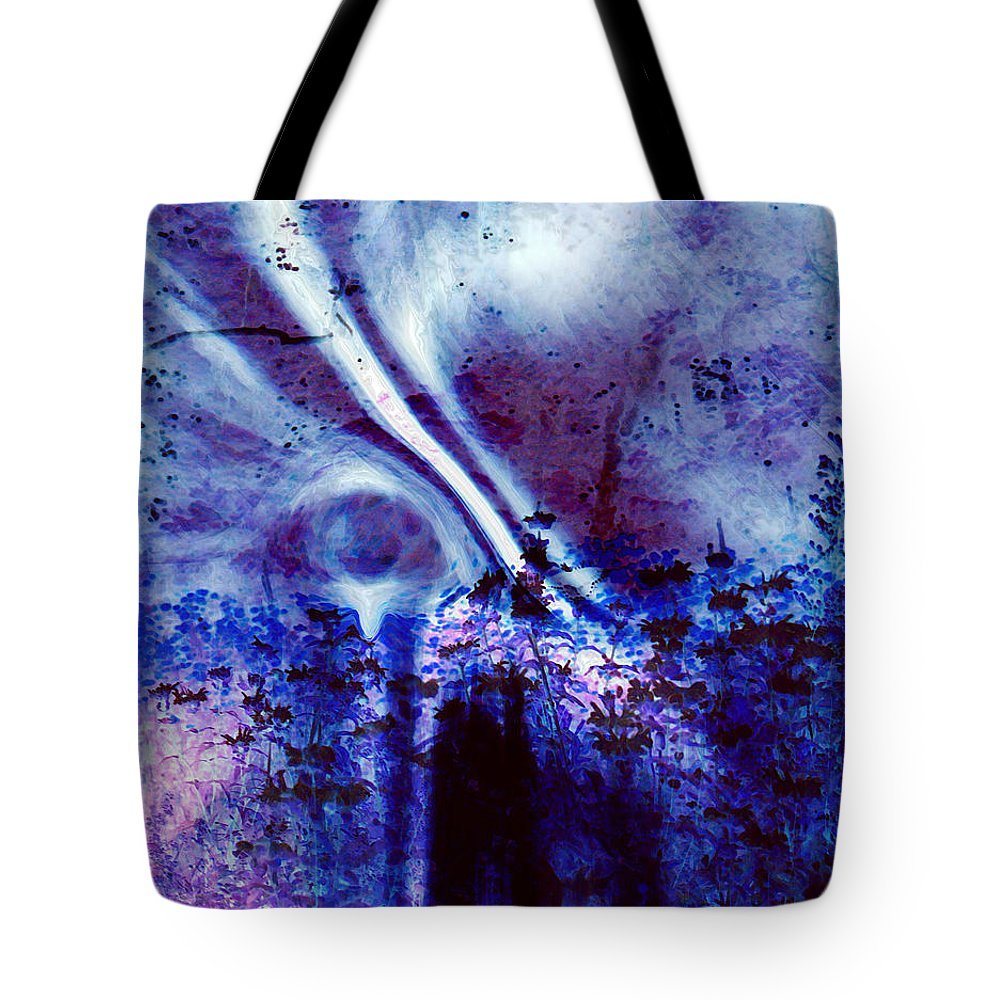 Abstracts Tote Bag featuring the digital art Blackest Eyes by Linda Sannuti