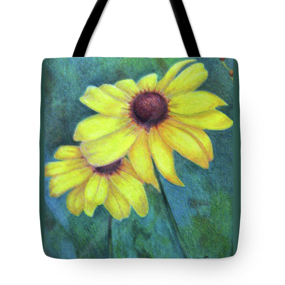 Fuqua - Artwork Tote Bag featuring the drawing Blackeyed Susan by Beverly Fuqua