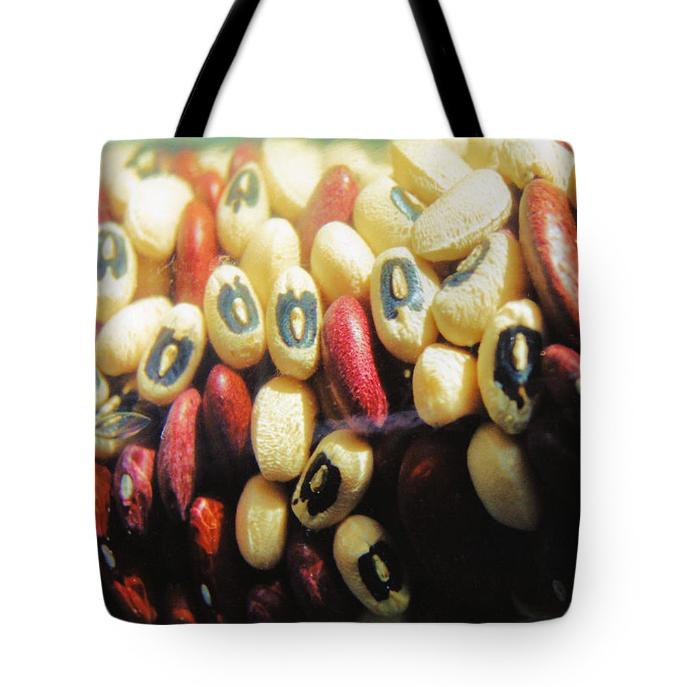 Still Life Tote Bag featuring the photograph Blackeyes And Kidneys by Jan Amiss Photography