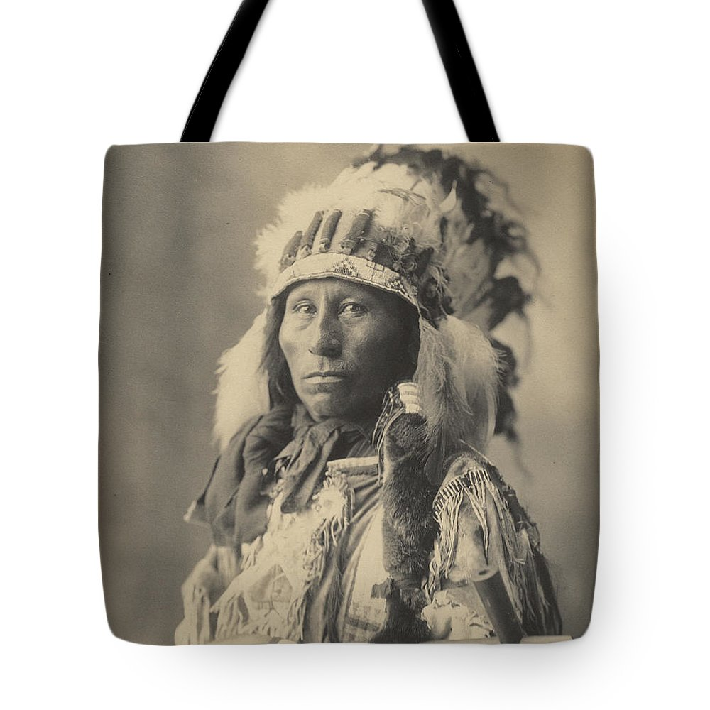Adolph F. Muhr (american Tote Bag featuring the painting Blackheart Ogalalla Sioux by Celestial Images
