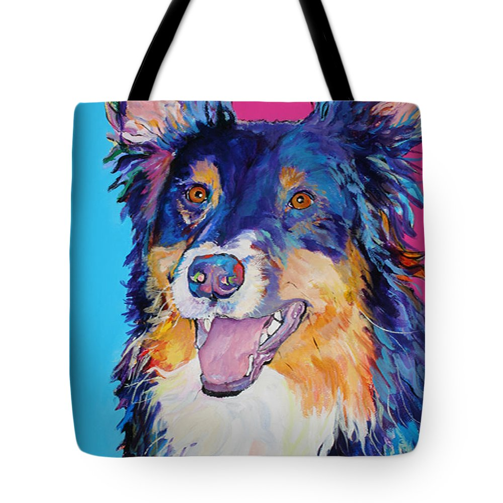 Dog Tote Bag featuring the painting Blackjack by Pat Saunders-White