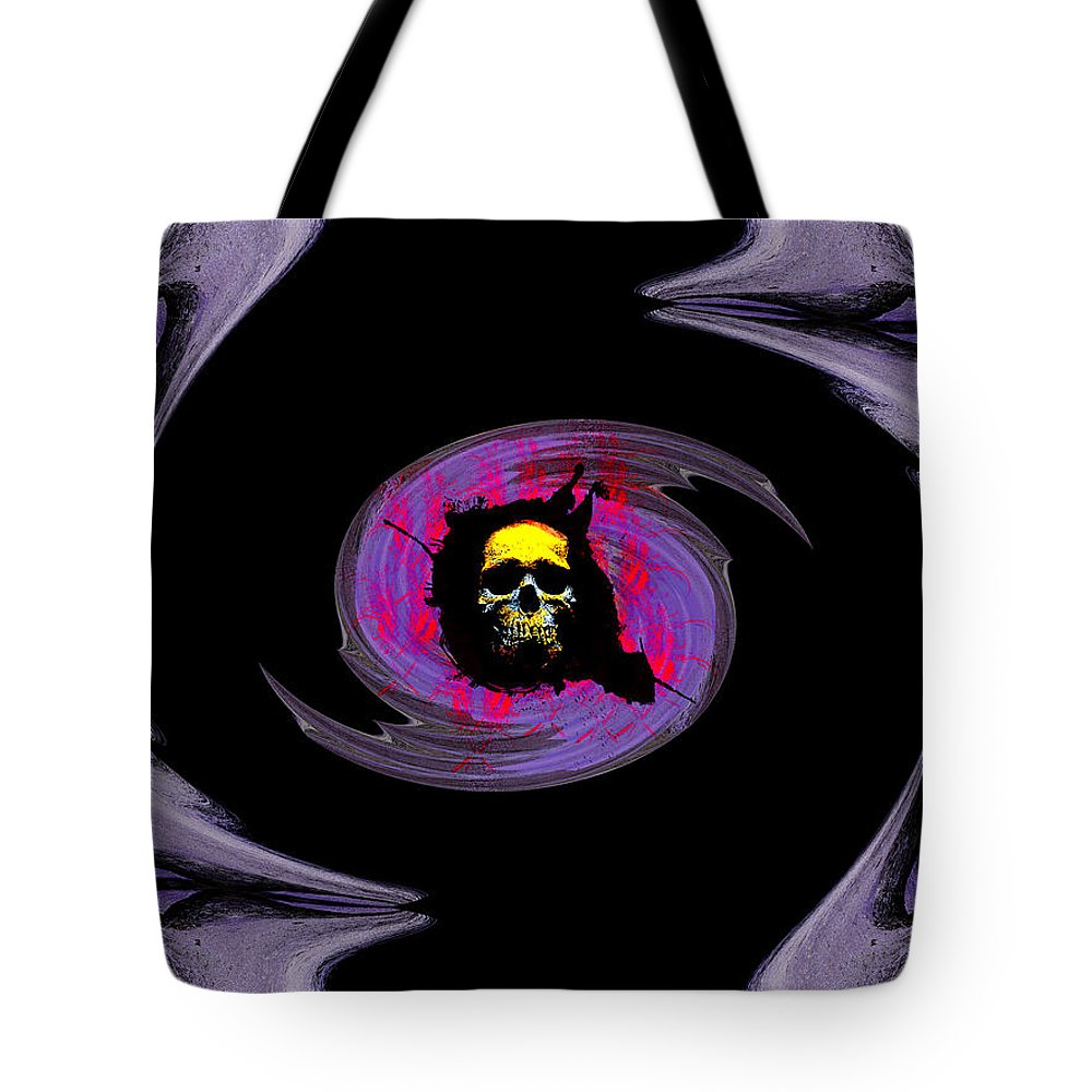 Blade Tote Bag featuring the digital art Blade Runner by Michael Damiani