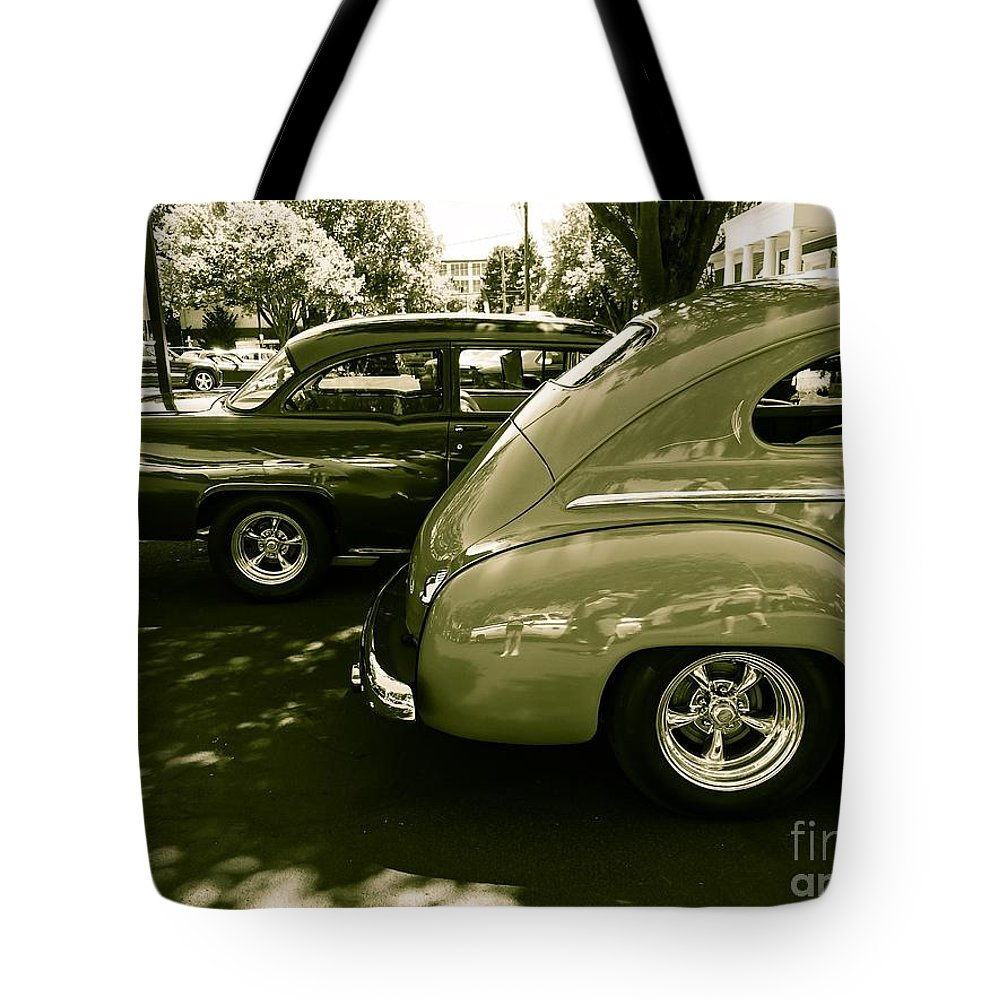 Classic Cars Tote Bag featuring the photograph Blast From The Past by Michael Gailey