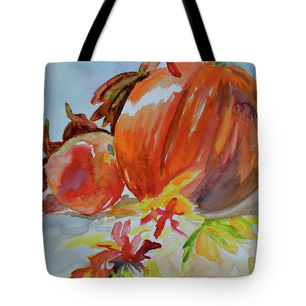 Pumpkin Tote Bag featuring the painting Blazing Autumn by Beverley Harper Tinsley