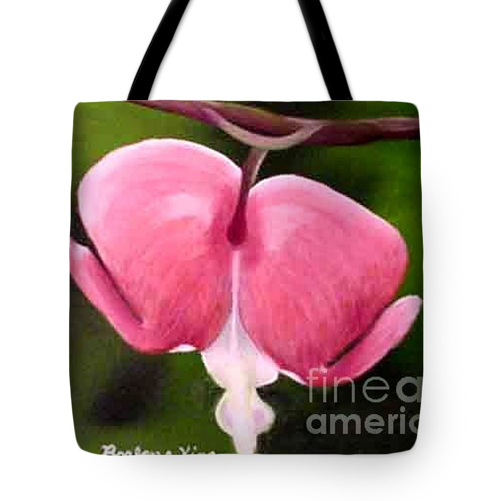 Floral Tote Bag featuring the painting Bleeding Heart by Barbara King