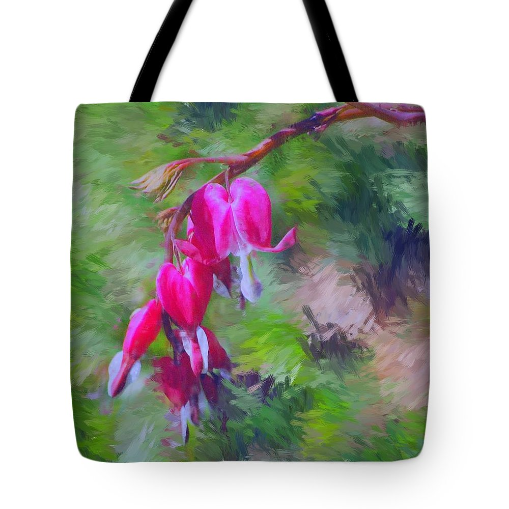 Daffodil Tote Bag featuring the photograph Bleeding Heart by David Lane