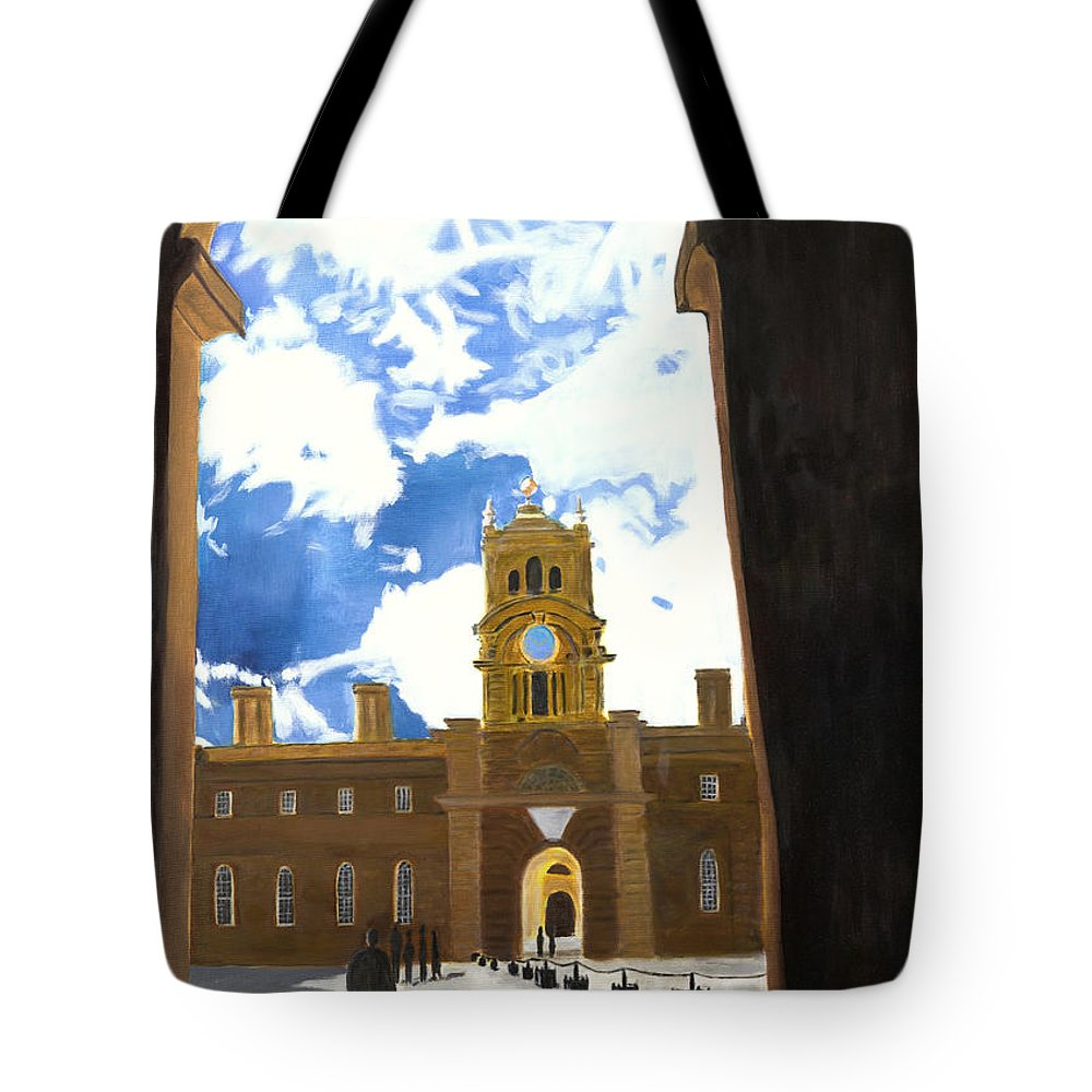 Churchill Tote Bag featuring the painting Blenheim Palace England by Avi Lehrer