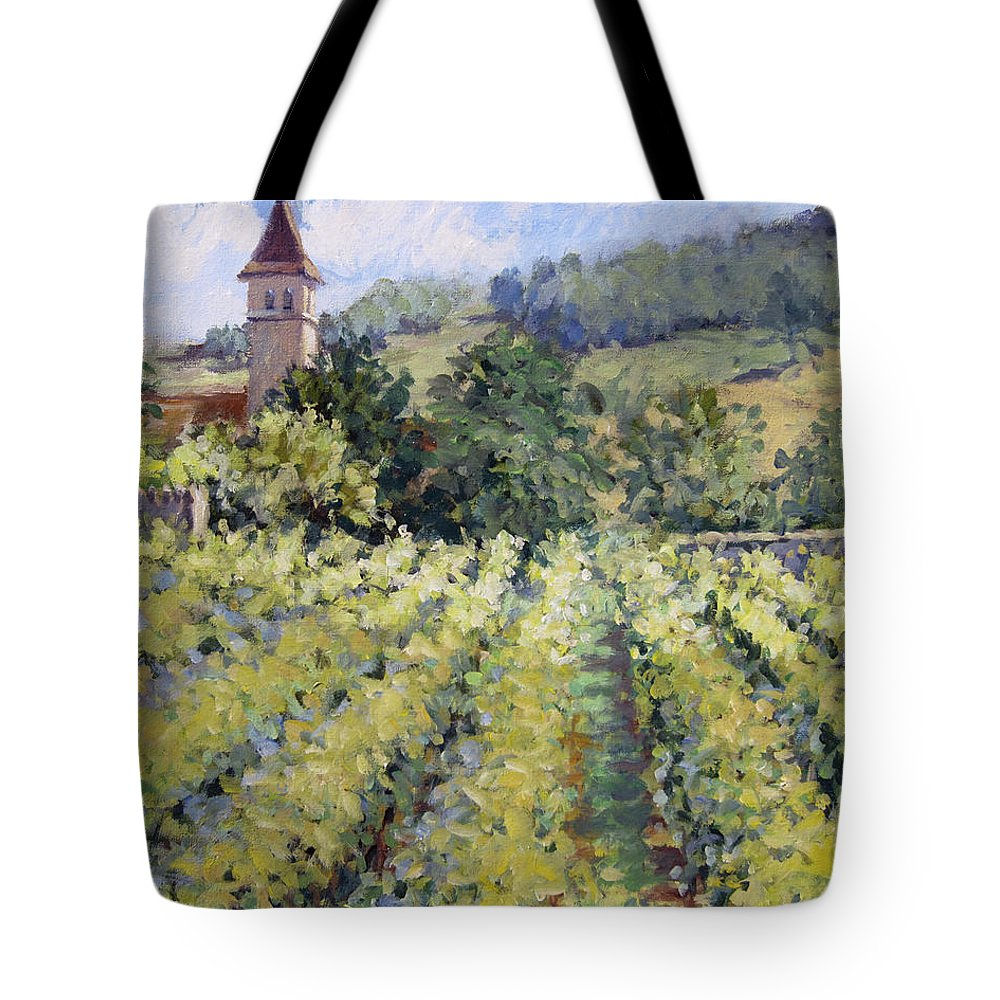 France Tote Bag featuring the painting Bless The Harvest by L Diane Johnson
