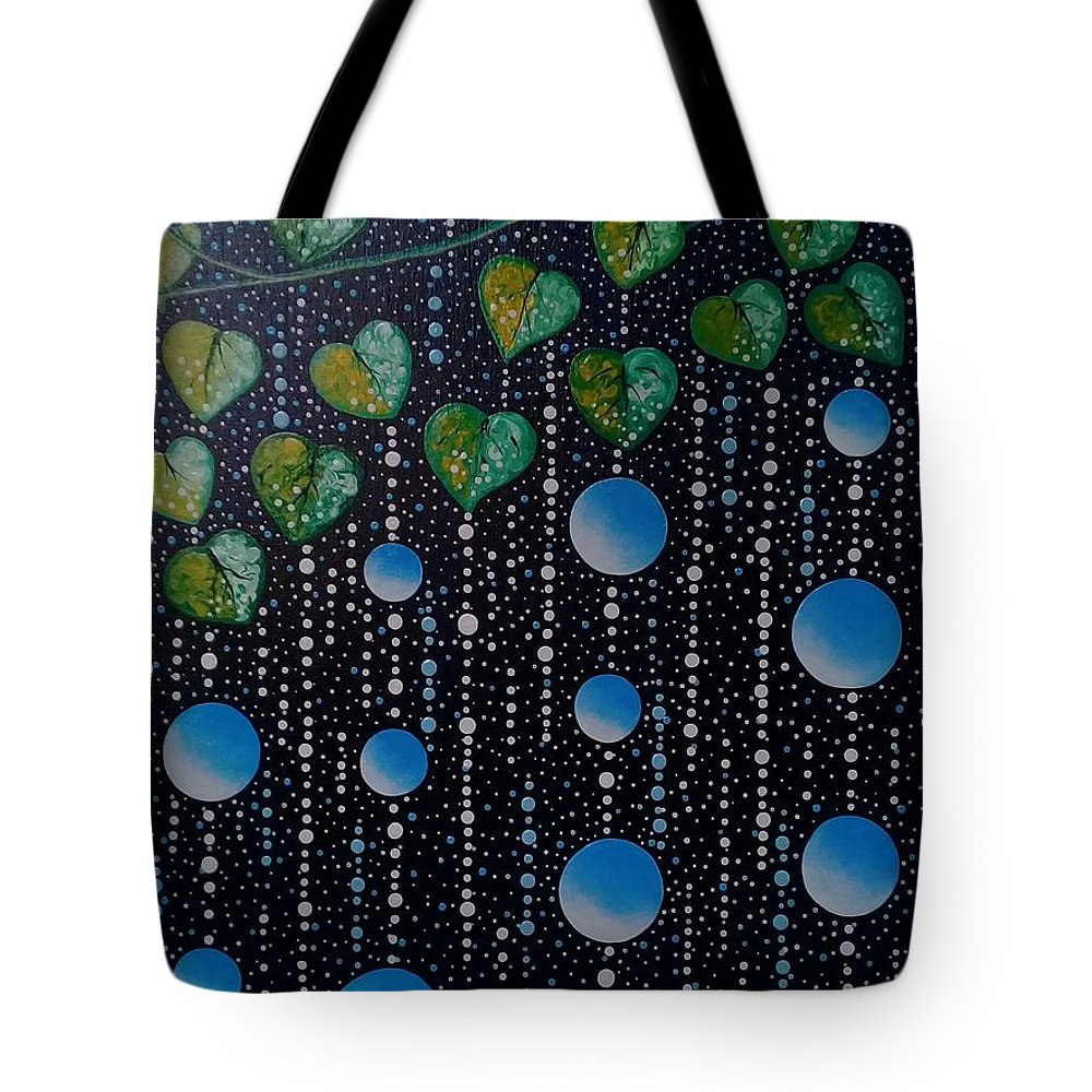 Prayer Tote Bag featuring the painting Blessing by Quennie Bacol