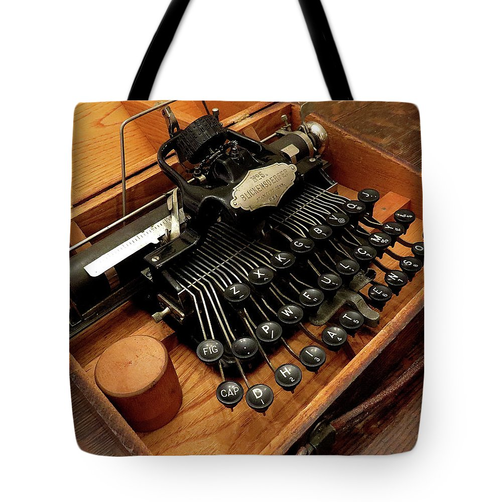 Typewriters Tote Bag featuring the photograph Blickensderfer No. 5 by Linda Stern