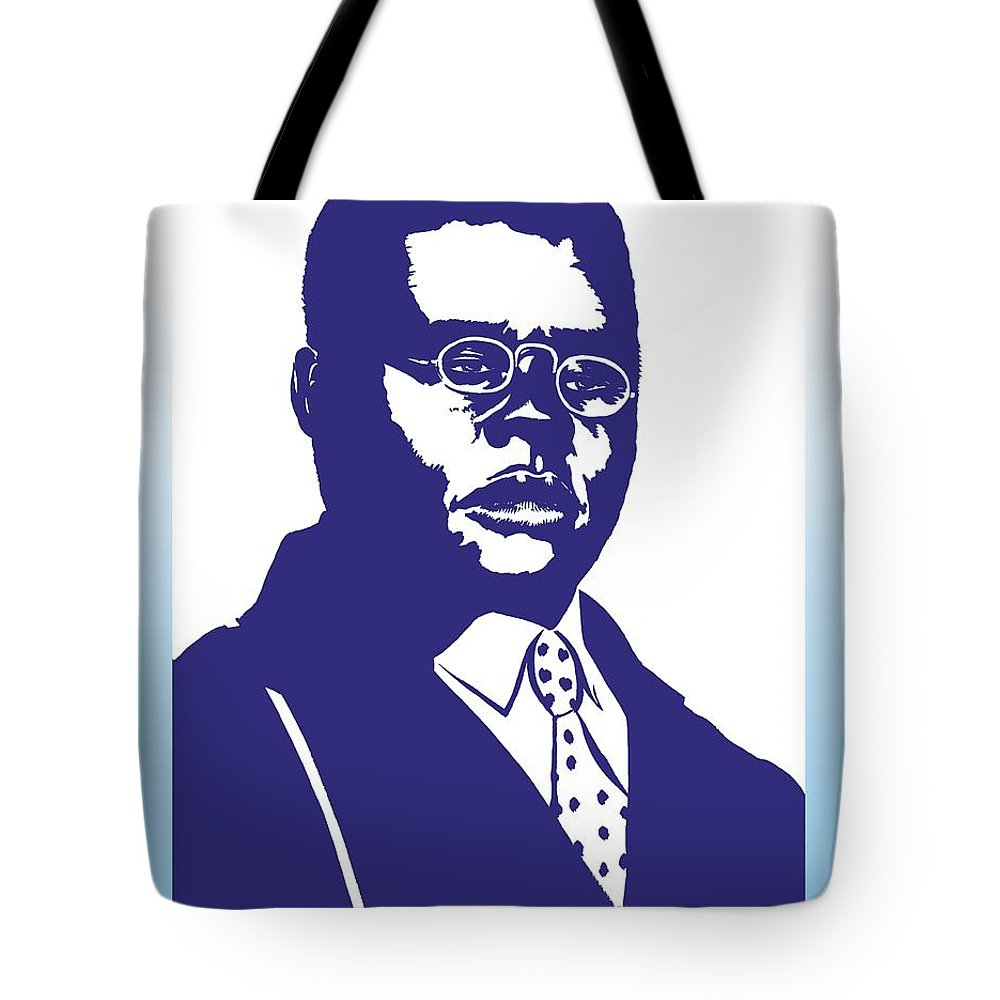Blind Tote Bag featuring the drawing Blind Lemon Jefferson by Markus Neal Humby