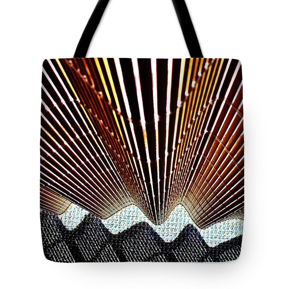Blind Tote Bag featuring the photograph Blind Shadows Abstract I I I by Kirsten Giving