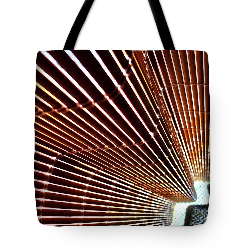 Blind Tote Bag featuring the photograph Blind Shadows Abstract I I by Kirsten Giving