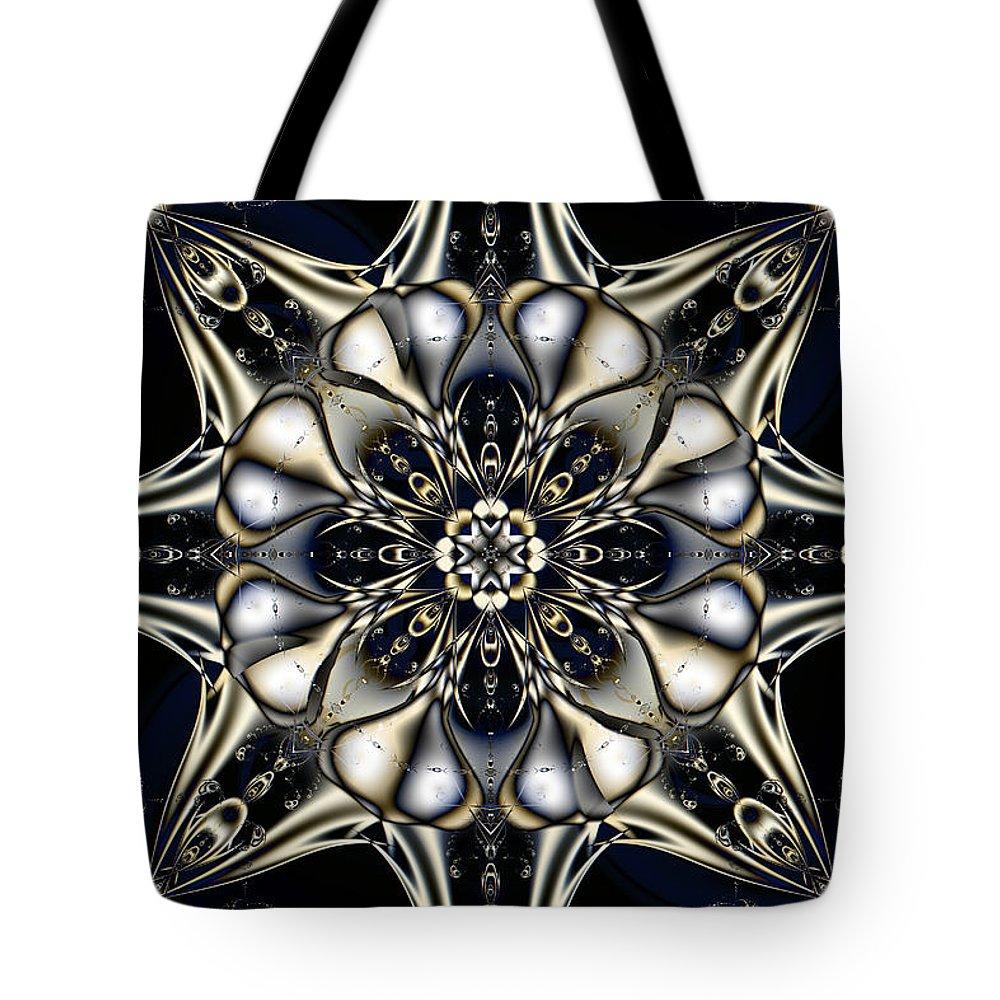 Abstract Tote Bag featuring the digital art Blingo by Jim Pavelle