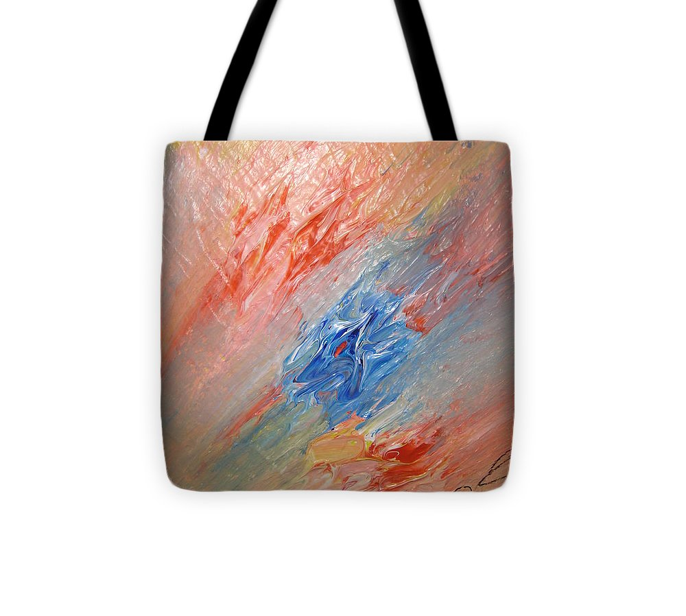 Abstract Tote Bag featuring the painting Bliss - B by Brenda Basham Dothage