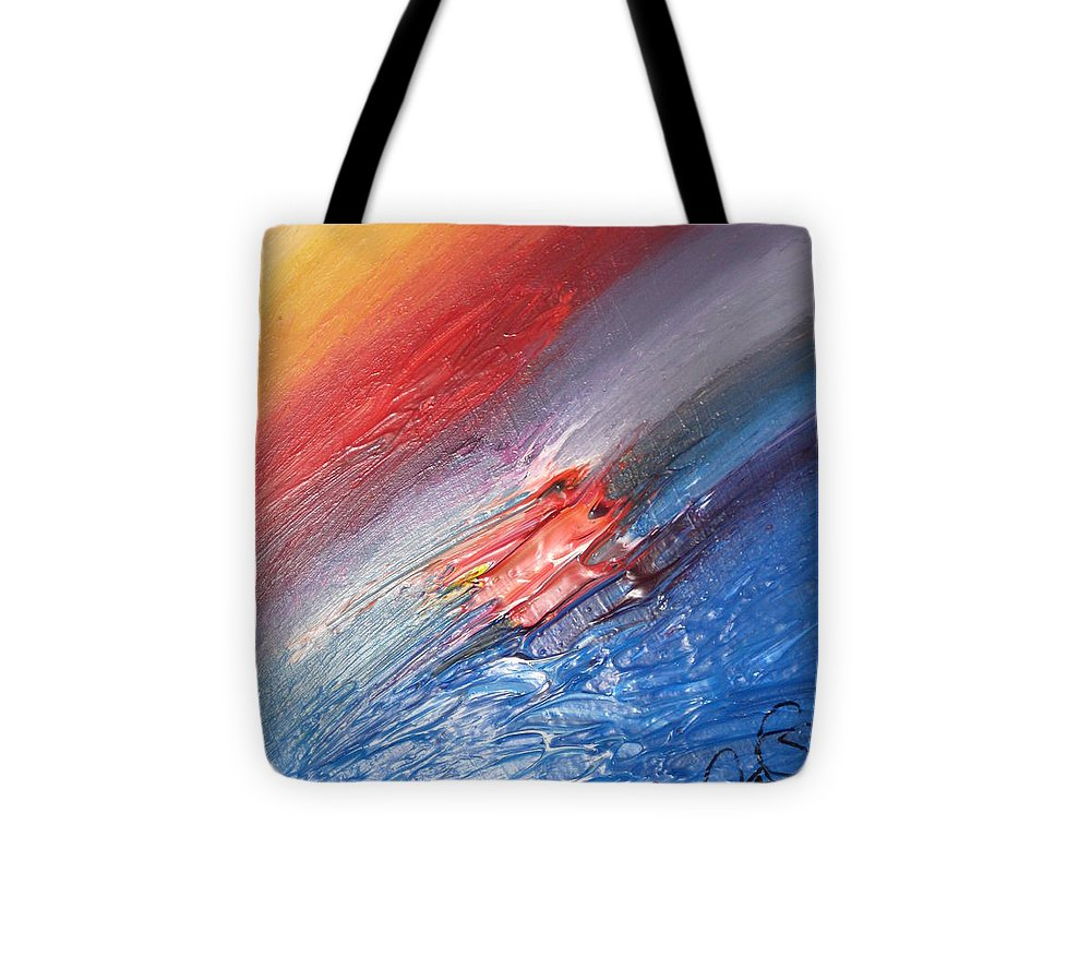 Abstract Tote Bag featuring the painting Bliss - D by Brenda Basham Dothage