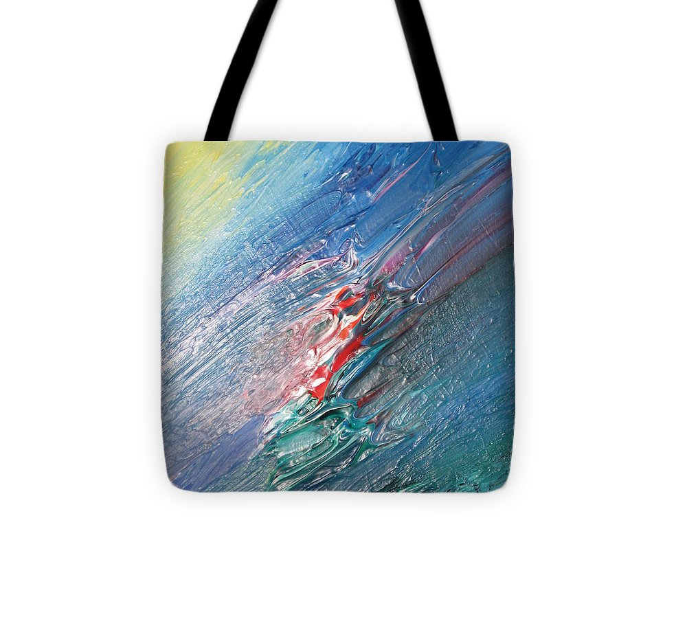 Abstract Tote Bag featuring the painting Bliss - F by Brenda Basham Dothage