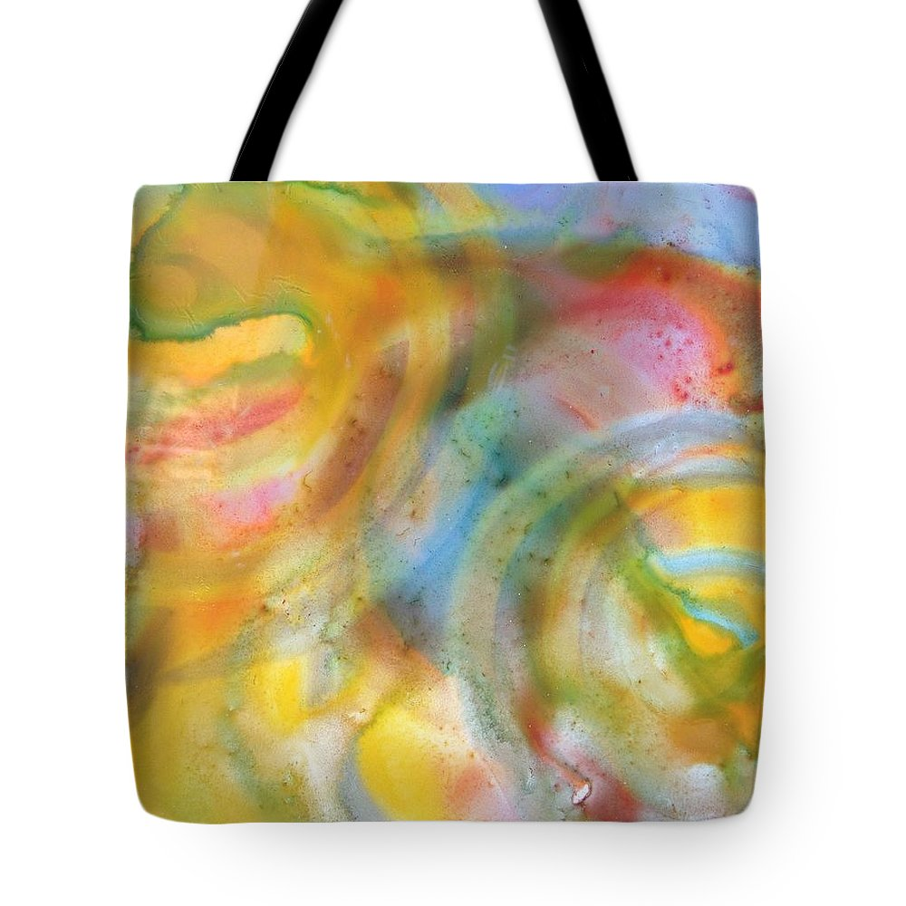 Abstract Tote Bag featuring the painting Block 51 by Gloria Houlne