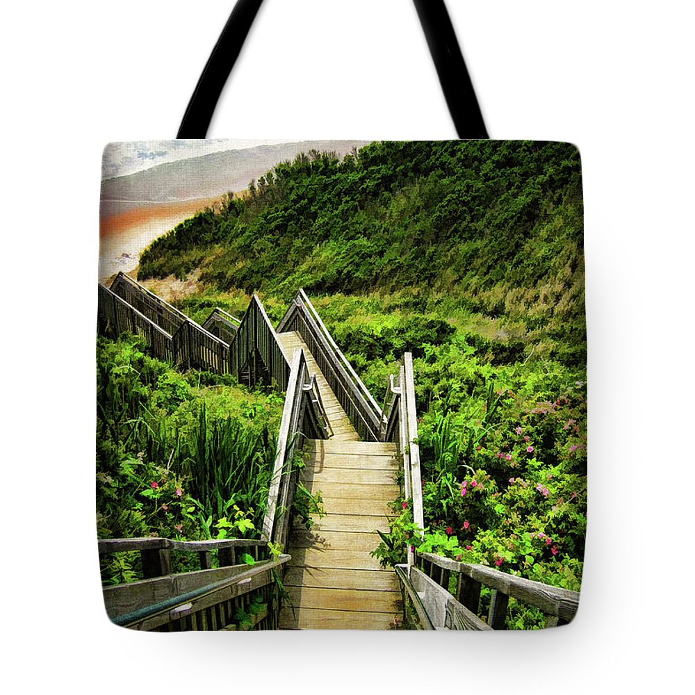 Block Island Tote Bag featuring the photograph Block Island by Lourry Legarde
